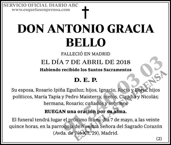 Antonio Gracia Bello